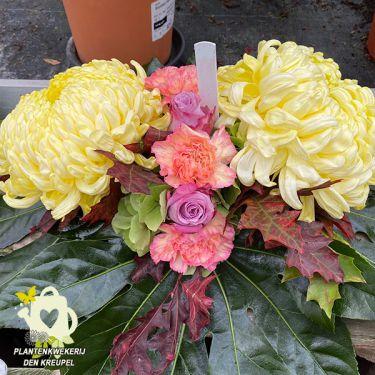 a1-bloemstuk-gele-bolchrysant