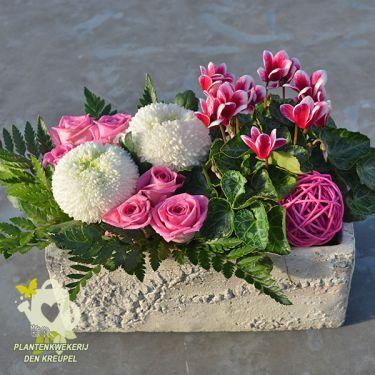 roze-wit-klein-bloemstuk